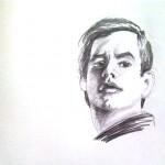 zeichnung von anthony perkins