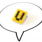 "Ministeck-Brosche vom Dortmunder ""U"""